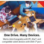TOSHIBA CANVIO FLEX 2,5 COL USB 3.0 KÜLSŐ MEREVLEMEZ 1TB EZÜST