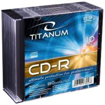 TITANUM CD-R 52X SLIM TOKBAN (10)