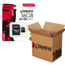 KINGSTON CANVAS SELECT MICRO SDHC 16GB + ADAPTER CLASS 10 UHS-I U1 - 10 DB-OS CSOMAG
