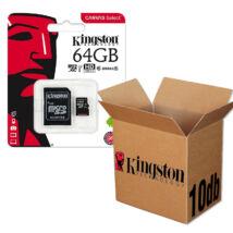 KINGSTON CANVAS SELECT MICRO SDXC 64GB + ADAPTER CLASS 10 UHS-I U1 - 10 DB-OS CSOMAG