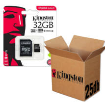 KINGSTON CANVAS SELECT MICRO SDHC 32GB + ADAPTER CLASS 10 UHS-I U1 - 25 DB-OS CSOMAG