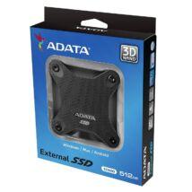 ADATA SD600 2,5 COL USB 3.1 KÜLSŐ SSD MEGHAJTÓ 512GB FEKETE