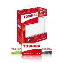 TOSHIBA CANVIO CONNECT II 2,5 COL USB 3.0 KÜLSŐ MEREVLEMEZ 500GB FEHÉR