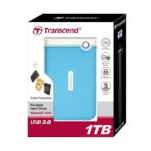 TRANSCEND STOREJET 25M3 2,5 COL USB 3.0 KÜLSŐ MEREVLEMEZ 1TB KÉK