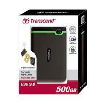 TRANSCEND STOREJET 25M3 2,5 COL USB 3.0 KÜLSŐ MEREVLEMEZ 500GB