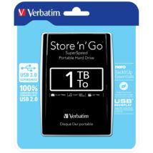 VERBATIM USB 3.0 HDD 2,5 STORE N GO 1TB FEKETE