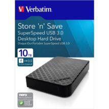 VERBATIM STORE N SAVE 3,5 COL USB 3.0 KÜLSŐ MEREVLEMEZ 10TB