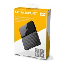 WESTERN DIGITAL MY PASSPORT USB 3.0 HDD 2,5 FEKETE 1TB