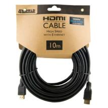 4WORLD HDMI-HDMI KÁBEL 1.4 ARANYOZOTT 10m