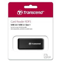TRANSCEND RDF5 USB 3.0/USB 3.1 MICRO SD/MICRO SDHC/MICRO SDXC SD/SDHC/SDXC MEMÓRIAKÁRTYA OLVASÓ FEKETE