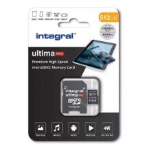 INTEGRAL ULTIMA PRO MICRO SDXC 512GB + ADAPTER CLASS 10 UHS-I U3 A1 V30 100/80 MB/s
