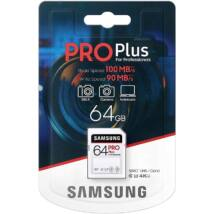 SAMSUNG PRO PLUS SDXC 64GB CLASS 10 UHS-I U3 100/90 MB/s