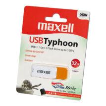 MAXELL USB 3.1 PENDRIVE TYPHOON 32GB FEHÉR/NARANCSSÁRGA