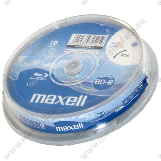 MAXELL BD-R 25GB 4X NYOMTATHATÓ CAKE (10)