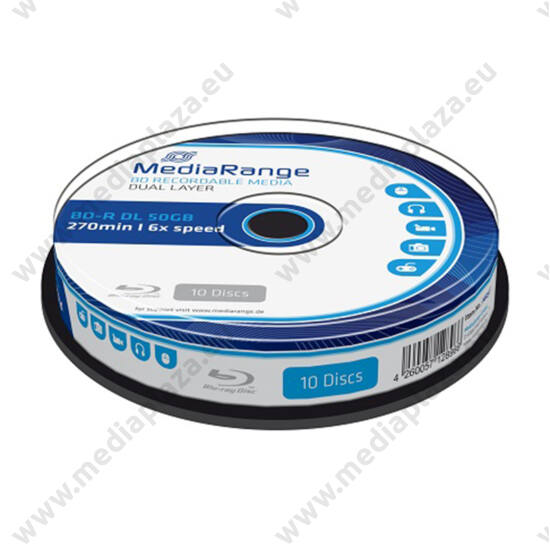 MEDIARANGE BD-R 50GB 6X CAKE (10) MR507
