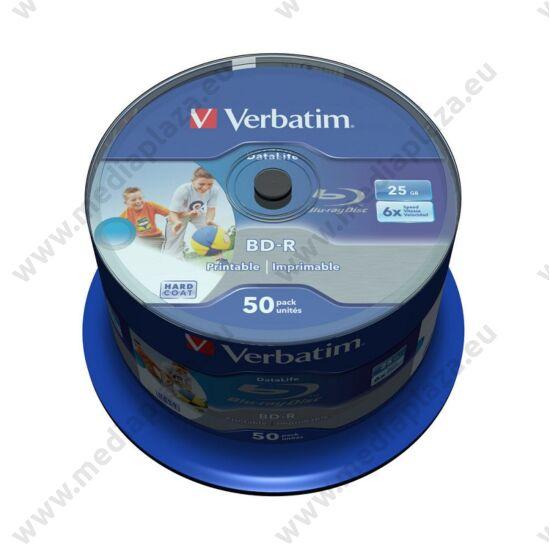 VERBATIM BD-R 25GB 6X DATALIFE NYOMTATHATÓ CAKE (50)
