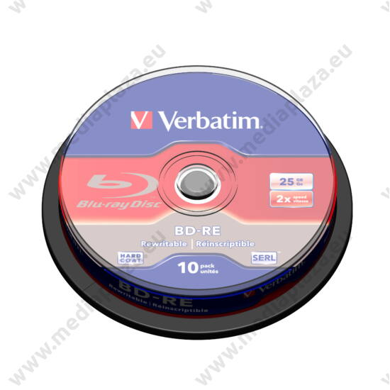 VERBATIM BD-RE 25GB 2X CAKE (10)