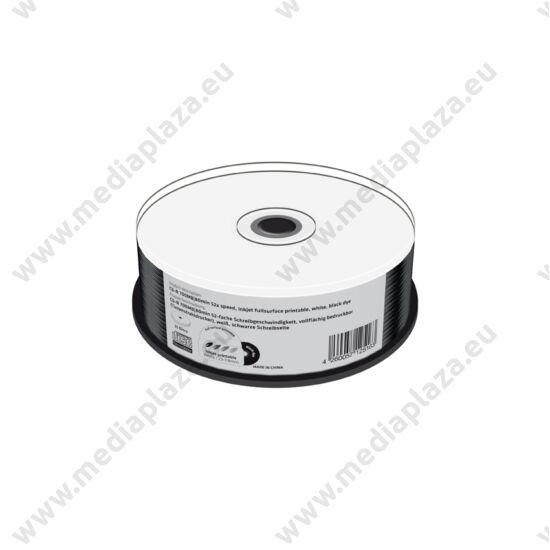 MEDIARANGE CD-R 52X BLACK NYOMTATHATÓ CAKE (25) MR241