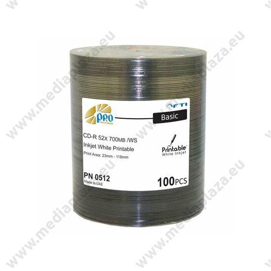 FALCONMEDIA CD-R 52X PRO BASIC NYOMTATHATÓ SHRINK (100)