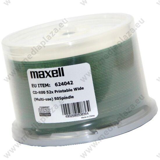 MAXELL CD-R 52X FULL NYOMTATHATÓ NO ID CAKE (50)