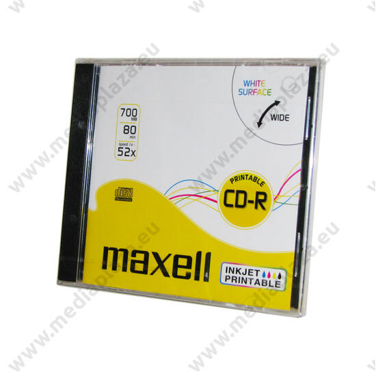 MAXELL CD-R 52X FULL NYOMTATHATÓ NORMÁL TOKBAN