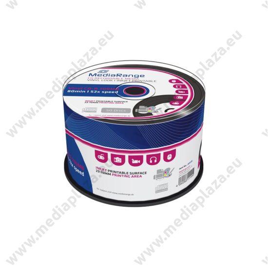 MEDIARANGE CD-R 52X VINYL NYOMTATHATÓ FEKETE CAKE (50) MR226