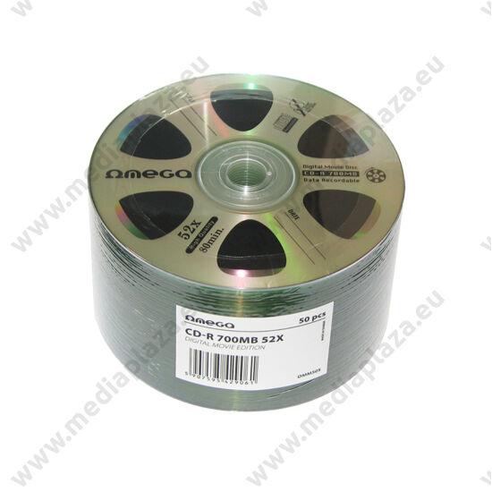 OMEGA CD-R 52X DIGITAL MOVIE EDITION EZÜST SHRINK (50)