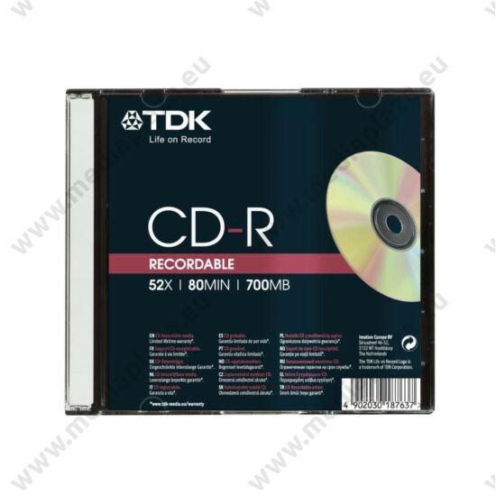 TDK CD-R 52X SLIM TOKBAN