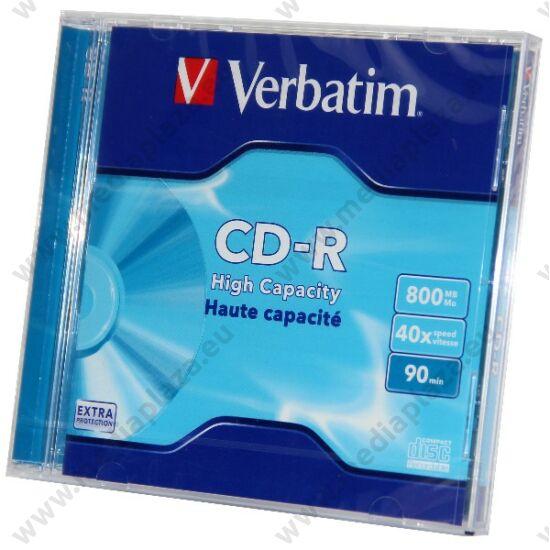 VERBATIM CD-R 40X 800MB 90MIN NORMÁL TOKBAN