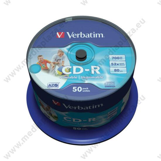 VERBATIM CD-R 52X FULL NYOMTATHATÓ ID BRANDED CAKE (50)