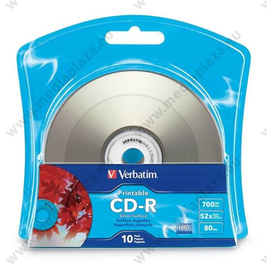 VERBATIM CD-R 52X NYOMTATHATÓ SILVER INKJET BLISTER (10)
