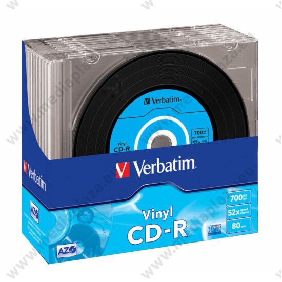 VERBATIM CD-R 52X VINYL SLIM TOKBAN (10)
