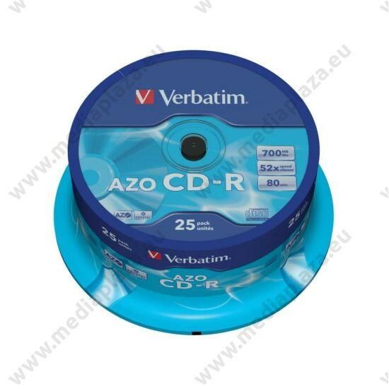 VERBATIM CD-R 52X CRYSTAL AZO CAKE (25)