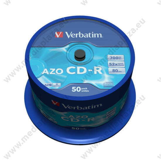 VERBATIM CD-R 52X CRYSTAL AZO CAKE (50)