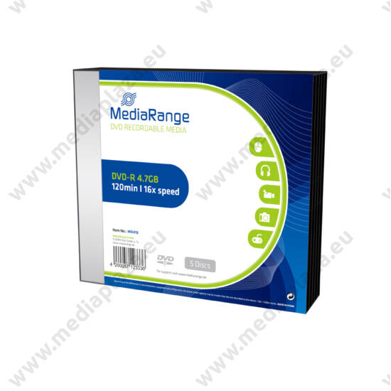 MEDIARANGE DVD-R 16X SLIM TOKBAN (5) MR418