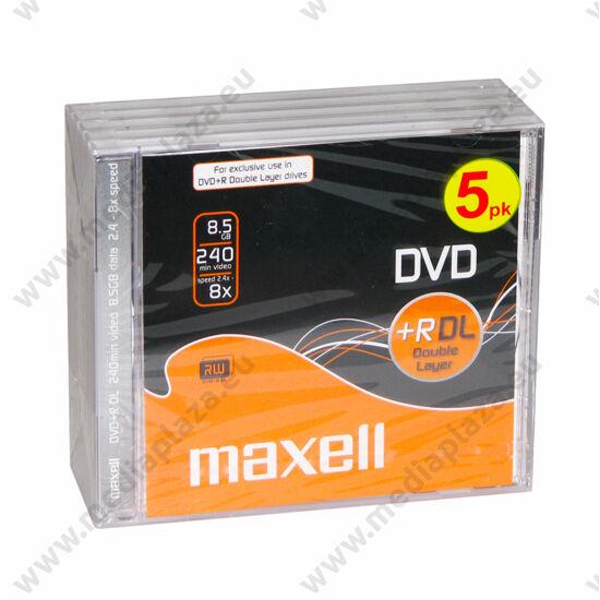 MAXELL DVD+R 8X DL NORMÁL TOKBAN (5)
