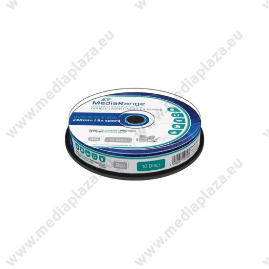 MEDIARANGE DVD+R 8X DL FULL NYOMTATHATÓ CAKE (10) MR468