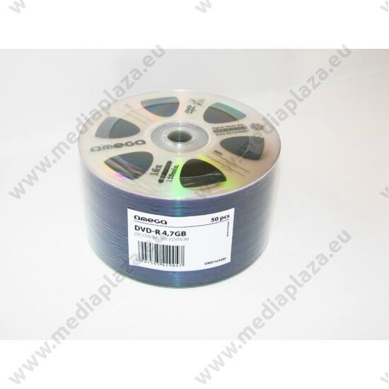 OMEGA DVD-R 16X DIGITAL MOVIE EDITION SHRINK (50) 42904