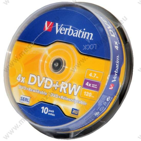 VERBATIM DVD+RW 4X CAKE (10)