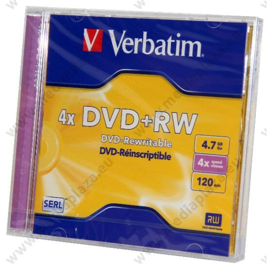 VERBATIM DVD+RW 4X NORMÁL TOKBAN