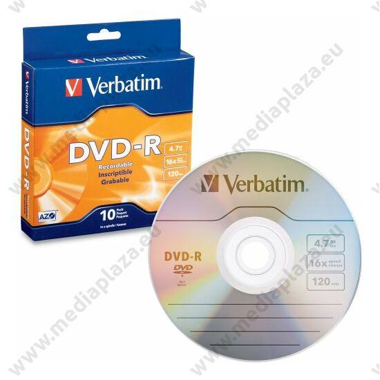 VERBATIM DVD-R 16X BOX (10)