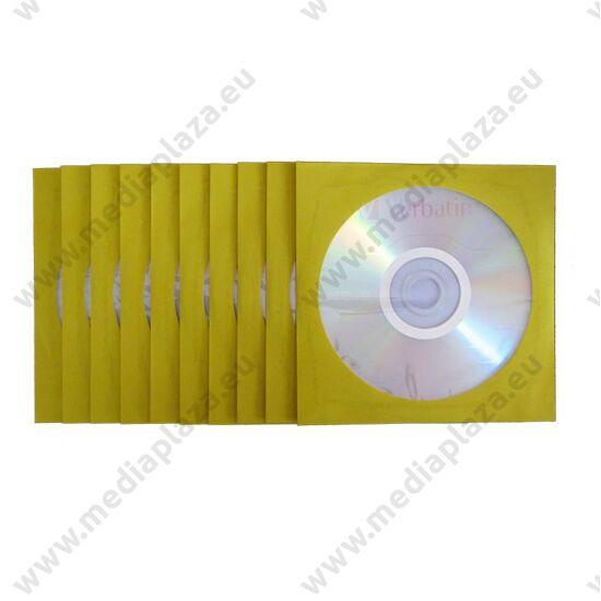 VERBATIM DVD-R 16X SÁRGA SZÍNŰ PAPÍRTOKBAN (10)
