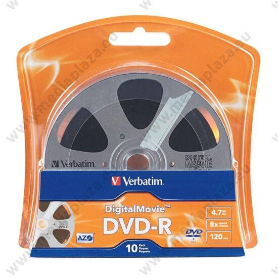 VERBATIM DVD-R 8X DIGITAL MOVIE BLISTER (10)