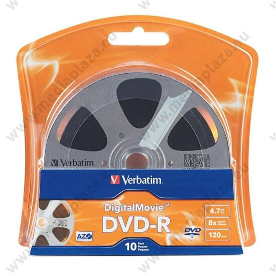 VERBATIM DVD-R 8X DIGITAL MOVIE BLISTER (10)
