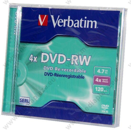 VERBATIM DVD-RW 4X NORMÁL TOKBAN