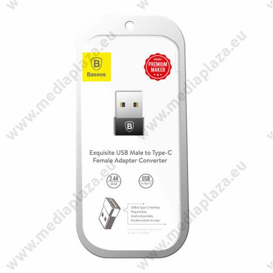 BASEUS CATJQ-A01 EXQUISITE USB (APA) - USB TYPE-C (ANYA) ÁTALAKÍTÓ ADAPTER FEKETE