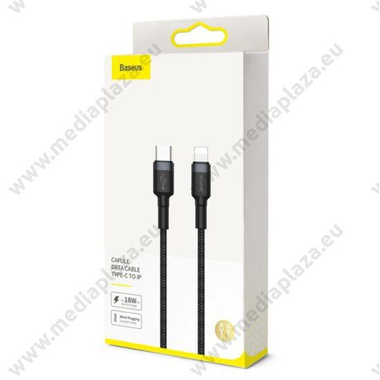 BASEUS CATLKLF-G1 CAFULE USB-C/APPLE LIGHTNING TÖLTŐ ÉS ADATKÁBEL 2A 18W PD/QC 3.0  1m FEKETE