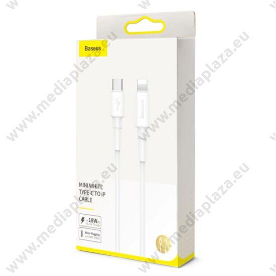 BASEUS CATLSW-02 USB-C/APPLE LIGHTNING TÖLTŐ ÉS ADATKÁBEL 2A 18W PD 1m FEHÉR