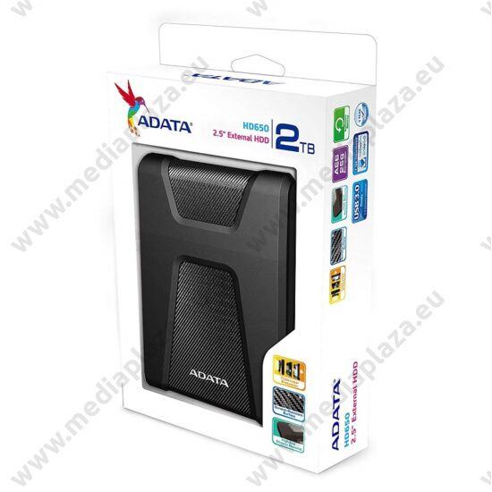 ADATA HD650 2,5 COL USB 3.1 KÜLSŐ MEREVLEMEZ 2TB FEKETE