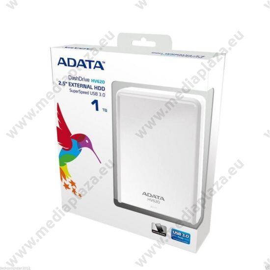 ADATA USB 3.0 HDD 2,5 HV620 1TB FEHÉR FÉNYES